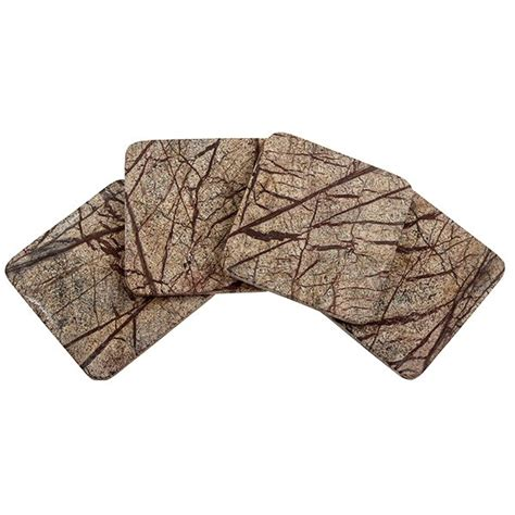 Beverage Coasters by Square Rainforest Marble Beverage Coasters Set Of 8