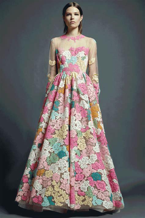 Dress Fashion Flower 4 caroline brasch nielsen flowers gif by fashgif find on giphy