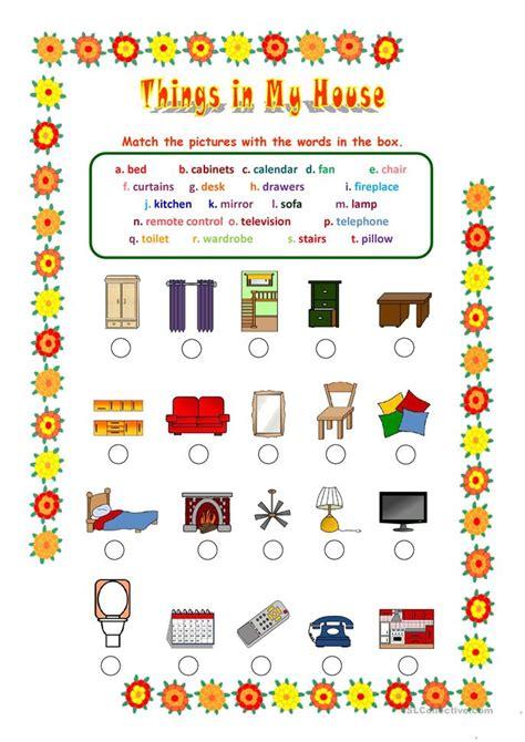 in my house things in my house worksheet free esl printable worksheets made by teachers