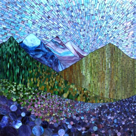 mosaic pattern landscape kasia mosaics my growing landscape series