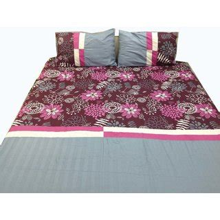 Syari Set Grey Maroon imaginations by kuntal s maroon floral with grey stripe bedsheet set in india shopclues