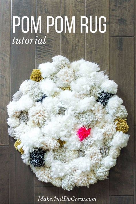 how to make a yarn pom pom rug 32 brilliant diy rugs you can make today diy