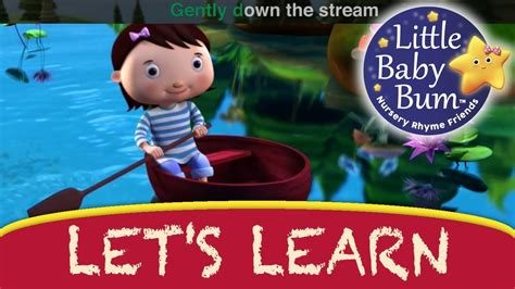 row your boat little baby bum let s learn quot row row row your boat quot with littlebabybum