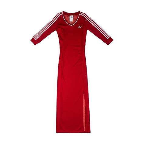 ! RARE ! adidas Originals X Jeremy Scott Varsity Dress Rihanna Red & White JS