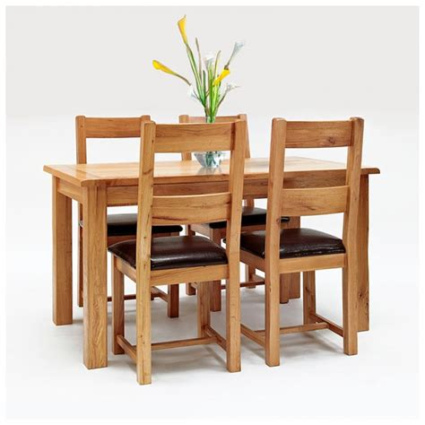 Westbury Rustic Oak Dining Table And Chairs Best Price Best Price Dining Table And Chairs