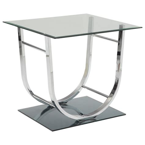 coaster furniture end tables coaster 704980 u shaped contemporary end table adcock