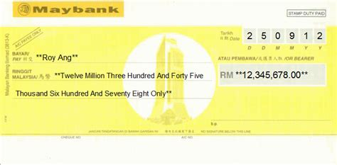 Release Letter Rhb Professional Cheque Printing Exles