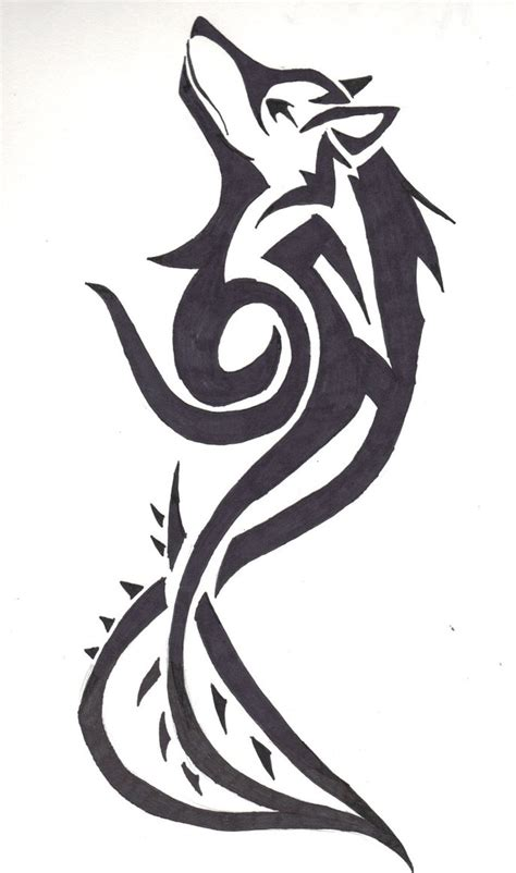 tribal wolf and moon tattoo 24 simple wolf design and ideas for tattooing