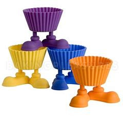 Wilton 4 Silicone Baking Cups Silicone Silly Cupca Berkualitas wilton silly silicone baking cups