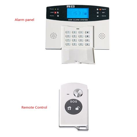 wireless lcd gsm sms home security home alarm system