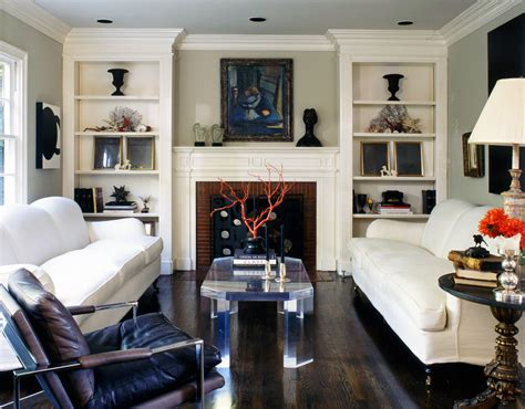 living room bookshelf ideas built in bookcases living room transitional with brick fireplace beige wall