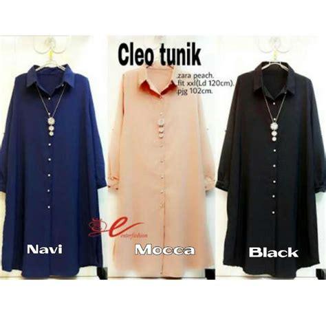 Cleo Tunik Atasan Tunik Baju Muslim jual harga cleo tunik katun rayon blouse atasan muslim zero2fifty