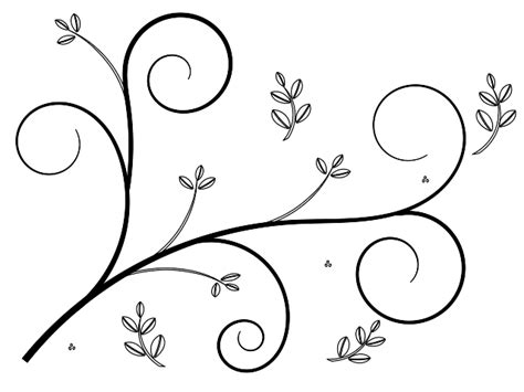 simple vine pattern simple flower design clipart best