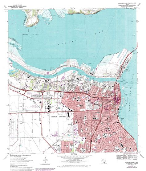 texas map corpus christi corpus christi topographic map tx usgs topo 27097g4