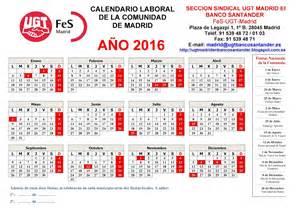 Calendario 2018 Laboral Madrid Secci 243 N Sindical De Ugt Madrid En Banco Santander