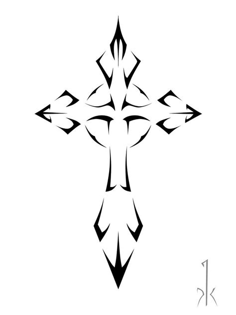 cross tattoo stencil amazing tribal cross design