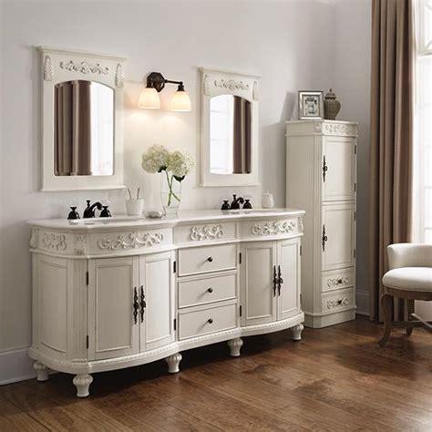 72 inch Sunrise Vanity   Antique White Vanity   Double