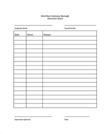 overtime log template overtime sheet templates 7 free word pdf format