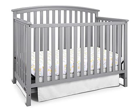 Graco Freeport 4 In 1 Convertible Crib Pebble Gray Baby Graco Convertible Crib Toddler Rail