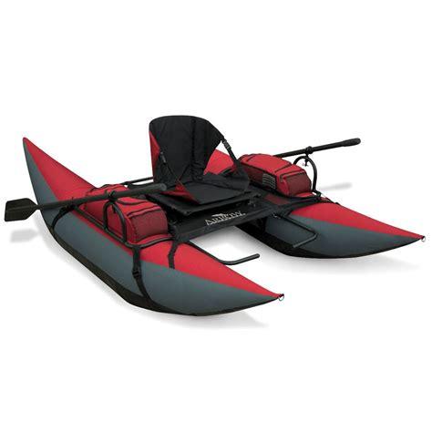 inflatable backpack pontoon boat  green head