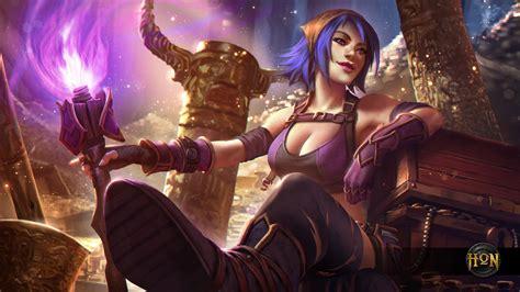 hon characters heroes of newerth treasure hunter hag by izaskun on