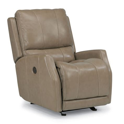 cheap power recliners flexsteel 1319 54p trumain leather power gliding recliner