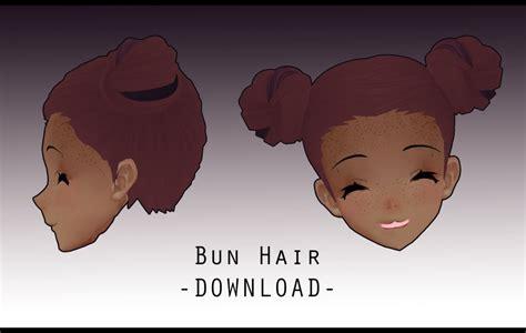 hair bun download bun hair download by peachmilk3d on deviantart
