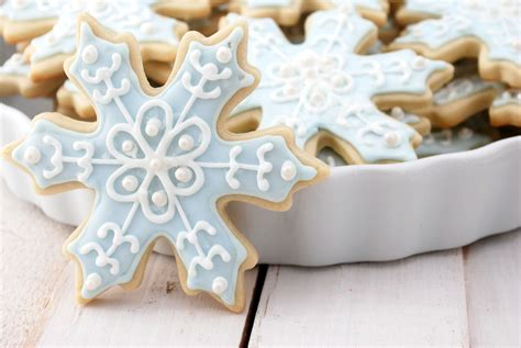 Theme Only Not Include Biscuit snowflake sugar cookies recipe cake and