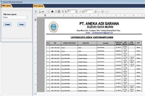 download form absensi karyawan dwi frafitriyanto