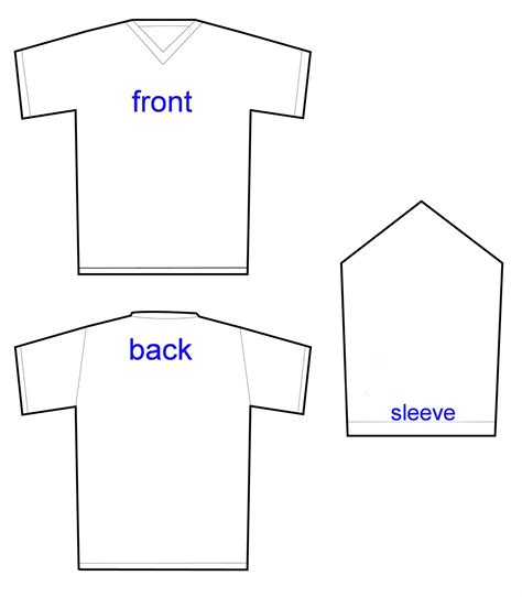 sleeve t shirt template garrett