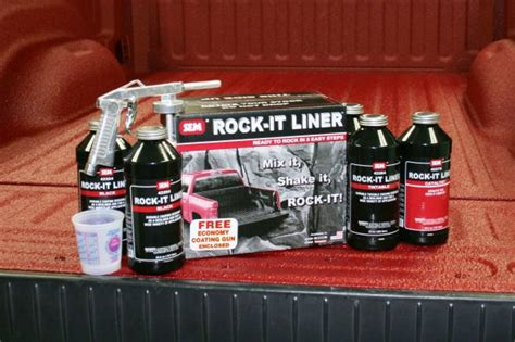 tintable bed liner sem truck bed coating black rock it liner kit urethane 2k