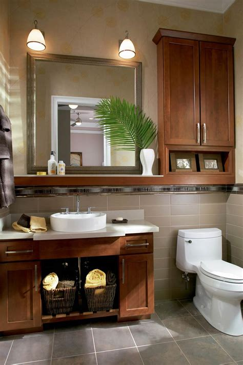 bathroom cabinets over toilet style 630f in cherry chocolate glaze