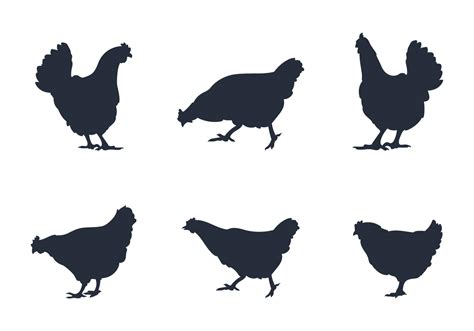 silhouette vector rooster silhouette download free vector art stock