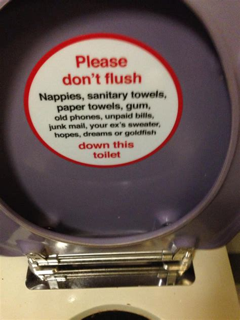 signage sunday readers signs please dont flush
