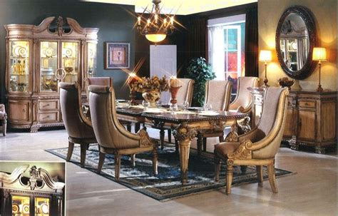 traditional luxury dining room furniture sets and design