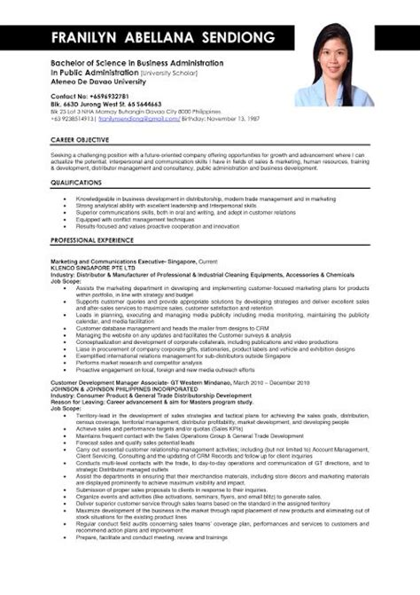 Company Resume Philippines 210 Best Images About Sle Resumes On Business Resume Sle Of Cover Letter And