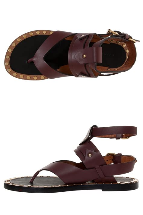 marant sandals lyst marant justy sandals in