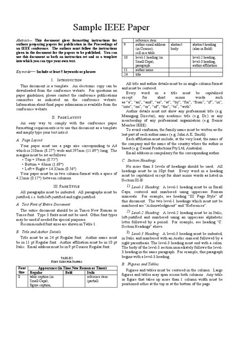 ieee research paper template ieee paper writing format 28 images document classes