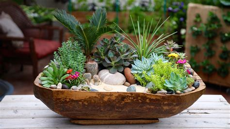 succulent planter antique dough bowl turned succulent planter youtube
