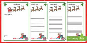 Thank You Letter Template Twinkl Thank You Letter To Santa Writing Template Letter