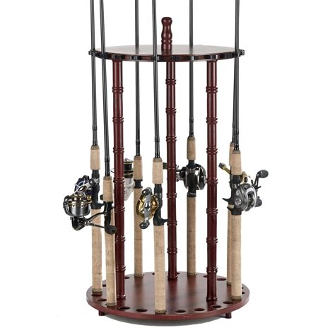Spinning Rod Rack by Organized Fishing 24 Capacity Deluxe Floor Rod Rack 652717 Fishing Rod Racks At