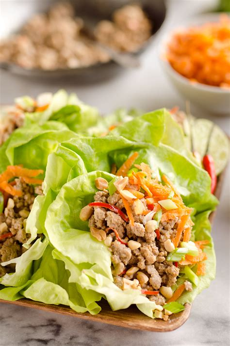 light and healthy dinners turkey thai peanut lettuce wraps