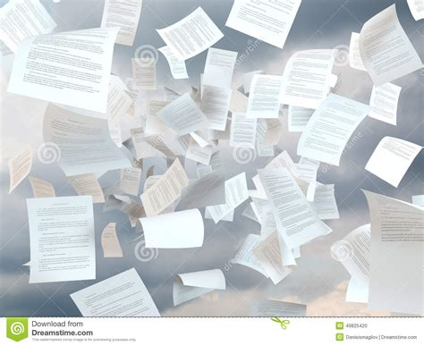 In The Papers by Tax Papers Falling Stock Photo Image 49825420