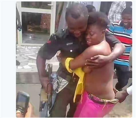 naija leaks photo of a police officer and a quot troubled quot woman naira