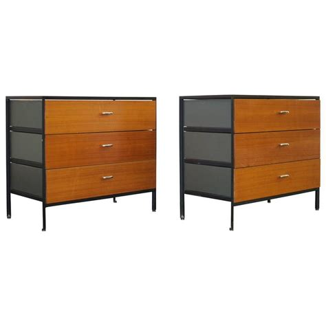 George Nelson Steel Frame Dresser by Pair Of George Nelson Steel Frame Dressers For Sale At 1stdibs