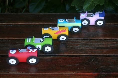 How To Make A Race Car Out Of Paper - how to make toilet paper roll race cars diy crafts
