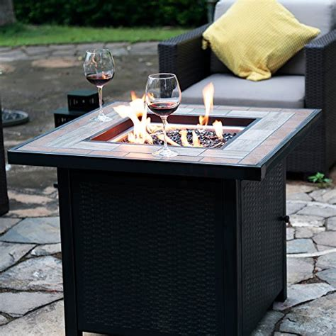 outdoor gas fireplace table lp gas table 30 in w 50000 btu propane gas fireplace