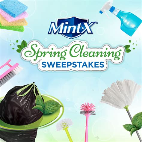 Sweepstakes Listings - mint x spring cleaning sweepstakes 50 winners