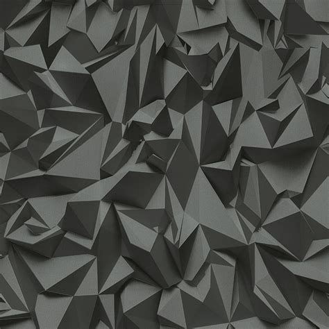 P&S Times 3D Effect Triangle Pattern Geometric Non Woven