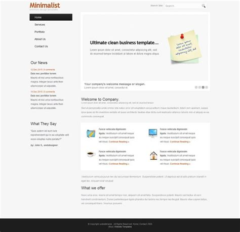 jquery html template minimalistiz jquery bases fully xhtml css template php
